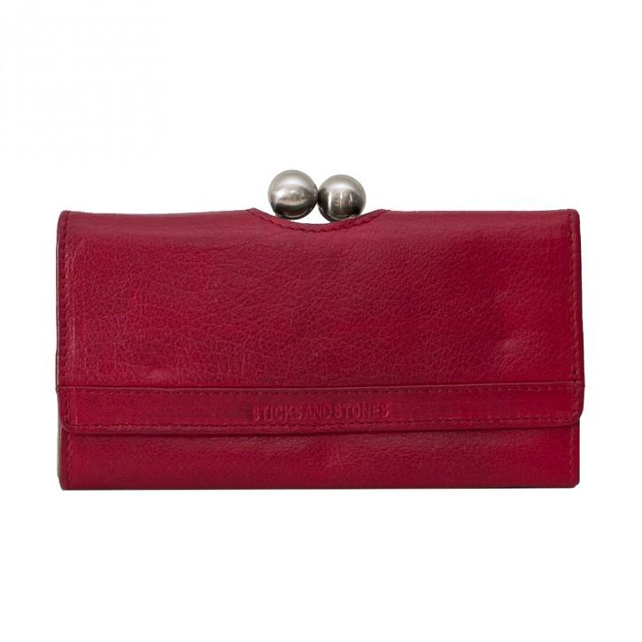 Berlin Wallet Cherry Red Wahed Sticksandstones Portemonnaie Rot