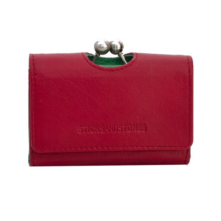 Biarritz Wallet Red Washed Sticksandstones Portemonnaie Rot