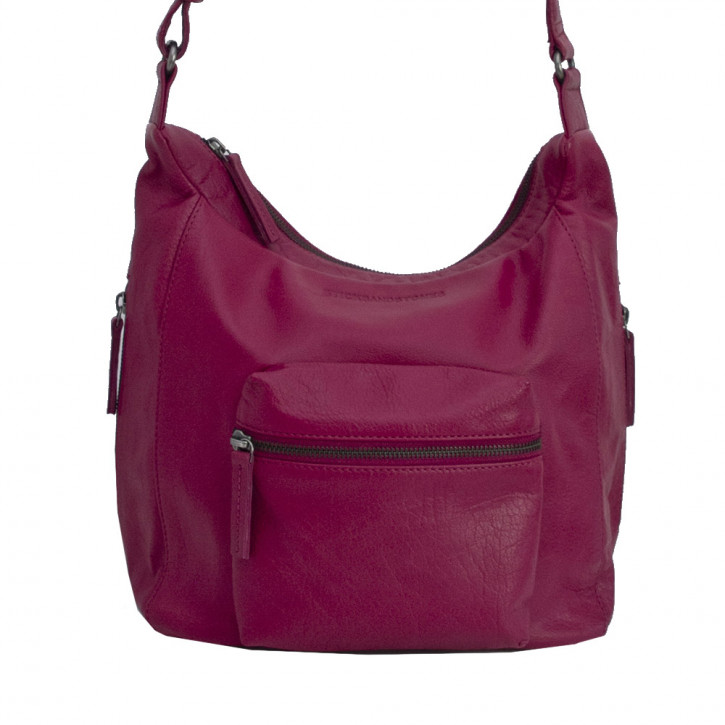 Calgary Bag Mulberry Red Washed SticksandStones Tasche Fuchsia
