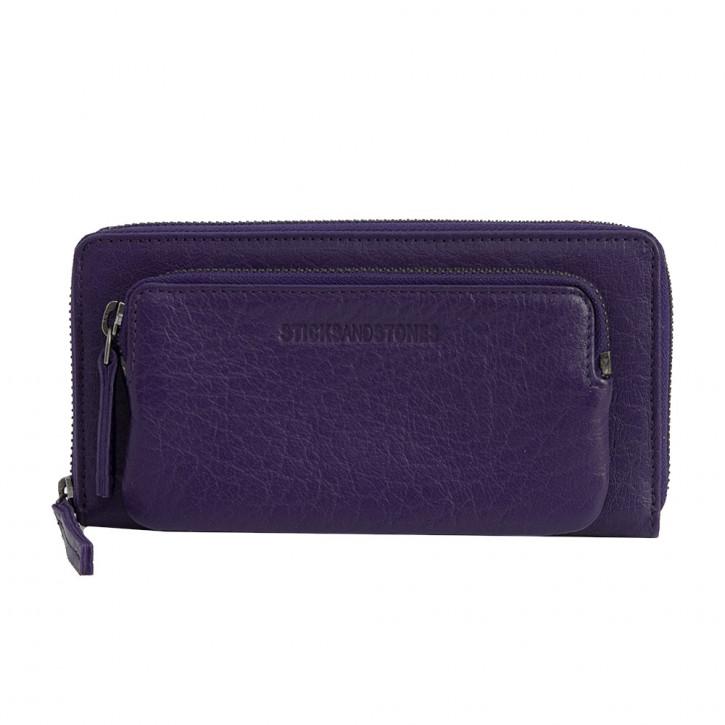 California Wallet Deep Purple Washed Sticksandstones Portemonnaie Dunkellila