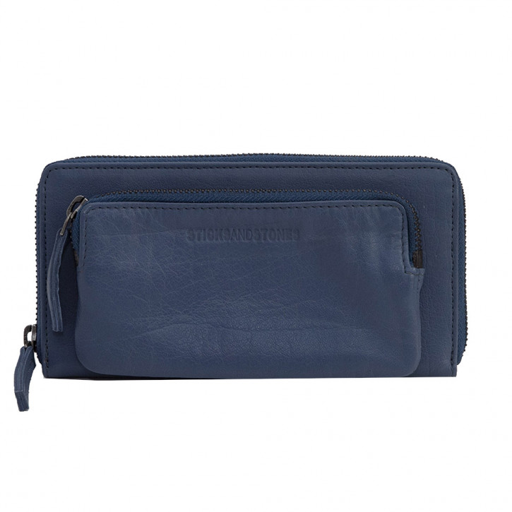 California Wallet Denim Blue Washed Sticksandstones Portemonnaie Jeansblau