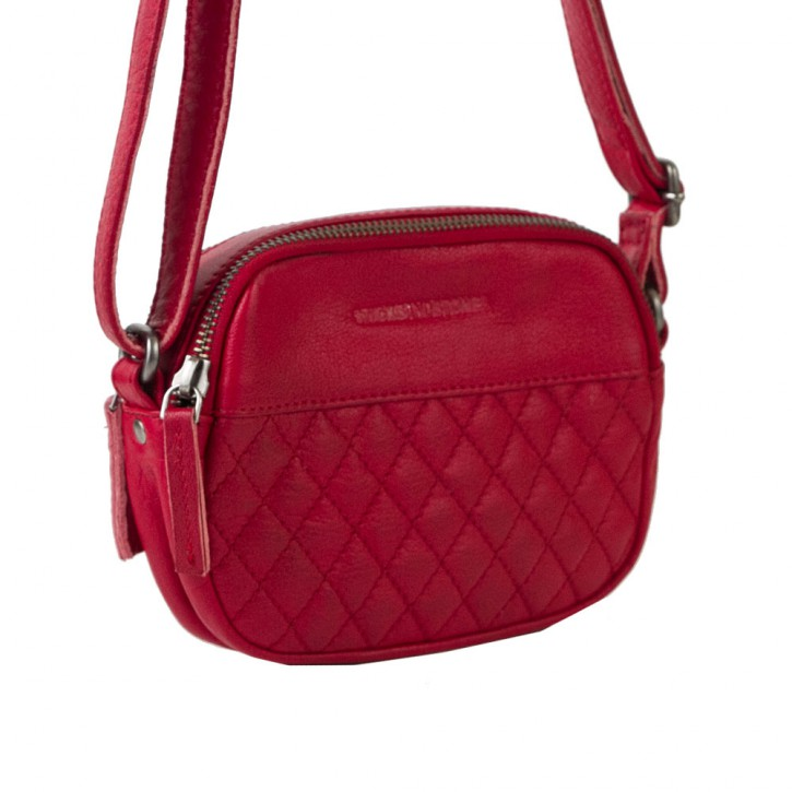 Capri Bag Cherry Red Washed Sticksandstones Tasche Rot