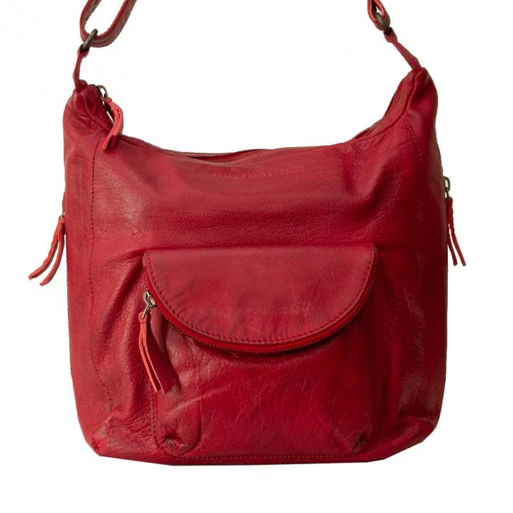 Cordoba Bag Cherry Red Washed Sticksandstones Tasche Rot