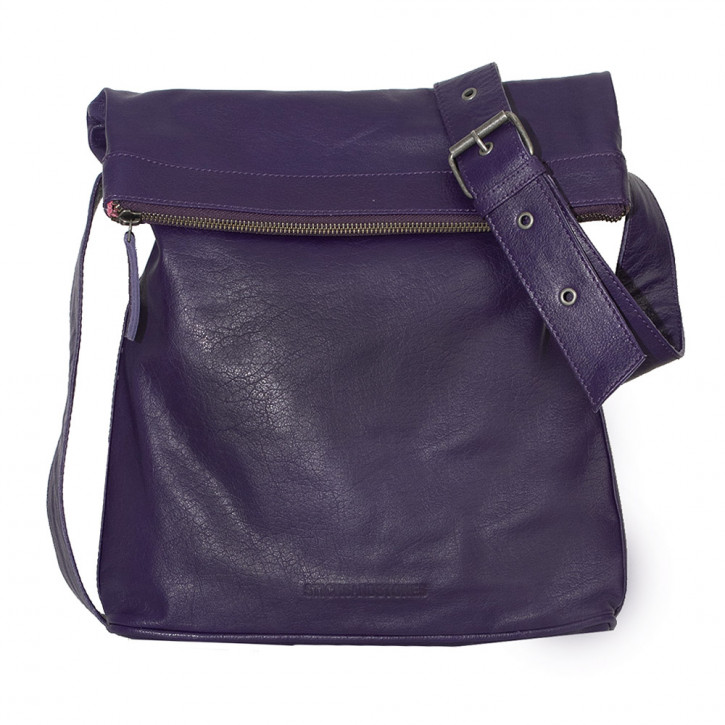 Flap Bag Deep Purple Washed Sticksandstones Tasche Lila