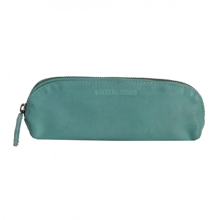 Kyoto Pencil Case Aqua Washed Sticksandstones Federtasche Türkis