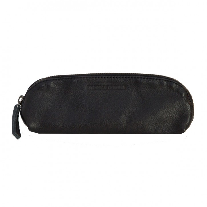Kyoto Pencil Case Black Washed Sticksandstones Federtasche Schwarz