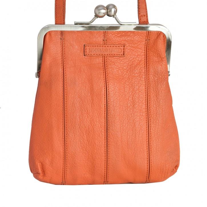 Luxembourg Bag Burnt Brick Washed SticksandStones Tasche Orange