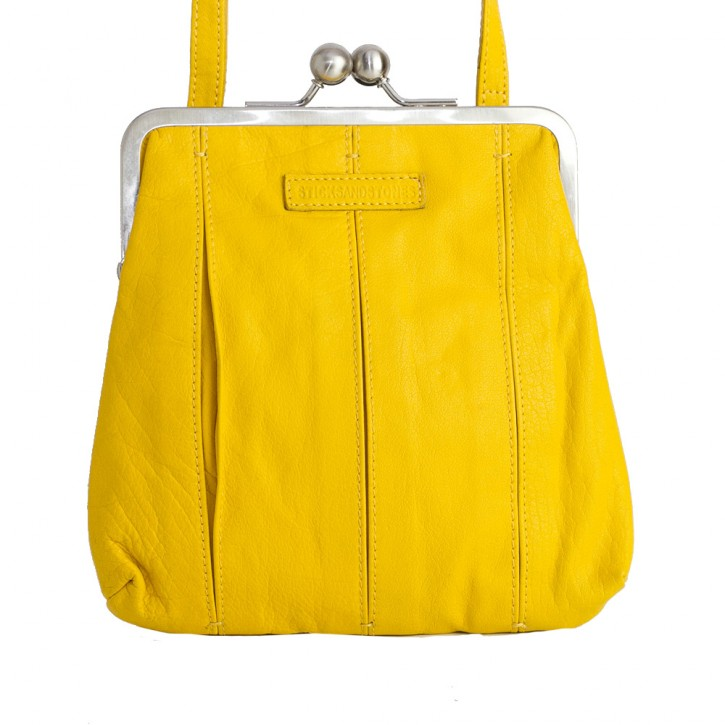 Luxembourg Bag Yellow Washed SticksandStones Tasche Gelb