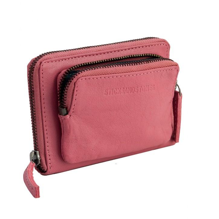 Montana Wallet Millenium Pink Washed Sticksandstones Portemonnaie Rosa