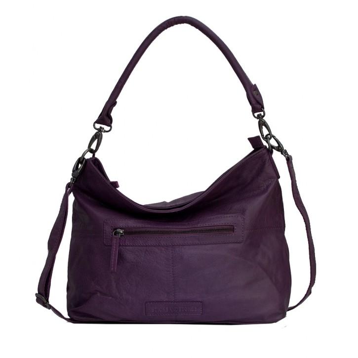 Paris Bag Shadow Purple Washed SticksandStones Tasche Aubergine