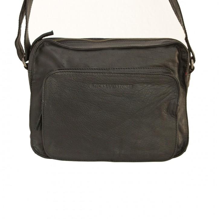 San Telmo Bag Black Washed Sticksandstones Tasche Schwarz