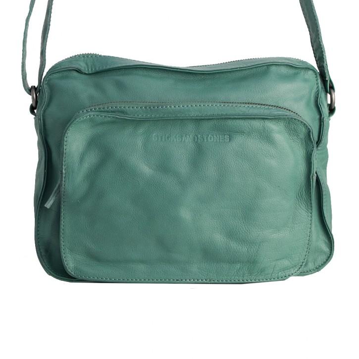 San Telmo Bag Green Spruce Washed Sticksandstones Tasche Fichtengrün
