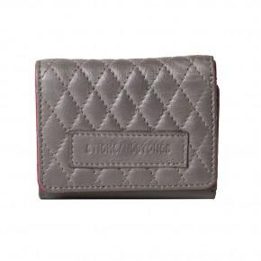 Andes Quilted Wallet Light Grey Sticksandstones Portemonnaie Grau