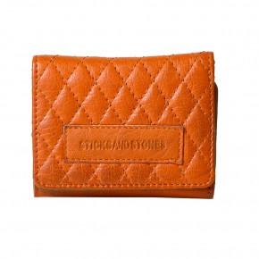 Andes Quilted Wallet Pumkin Sticksandstones Portemonnaie Orange