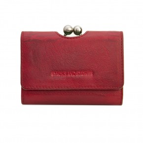 Biarritz Wallet Cherry Red Washed Sticksandstones Portemonnaie Rot
