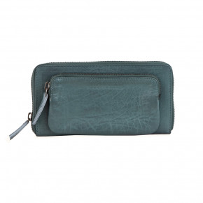 California Wallet Deep Teal Washed Sticksandstones Portemonnaie Blaugrün