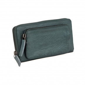 California Wallet Deep Teal Washed Sticksandstones Portemonnaie Blaugrün