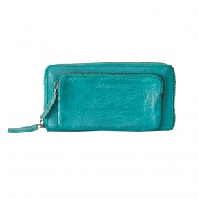 California Wallet Deep Turquoise Washed Sticksandstones Portemonnaie Türkis