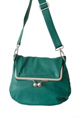 Cannes Bag Emerald Green Washed Sticksandstones Tasche Smaragdgrün