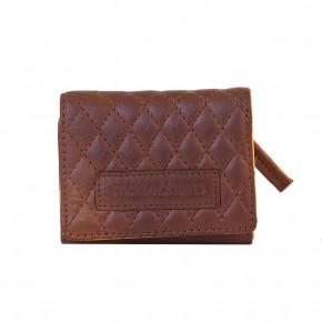 Andes Quilted Wallet Cognac Sticksandstones Portemonnaie Braun