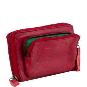 Montana Wallet Cherry Red Washed Sticksandstones Portemonnaie Rot