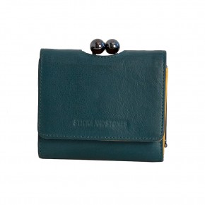 New York Wallet Deep Teal Washed Sticksandstones Portemonnaie Blaugrün