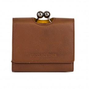 New York Wallet Cognac Washed Sticksandstones Portemonnaie Braun